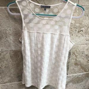 Brixon ivy off white sleeveless w/dots Size M